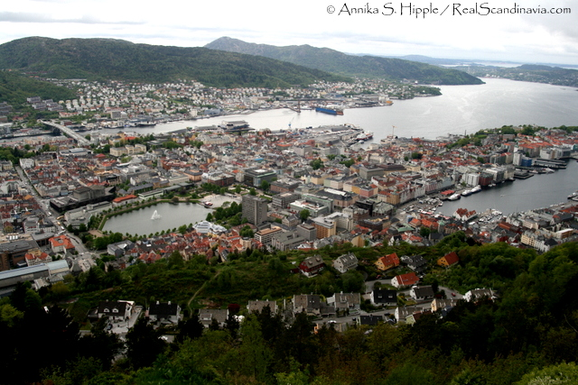 The view from Fløyen.