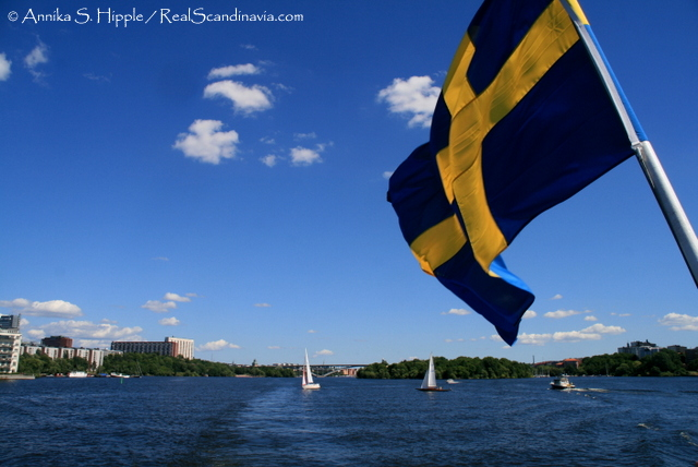 Heading out of Stockholm on the boat to Drottningholm.