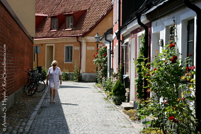 Charming street in Ystad