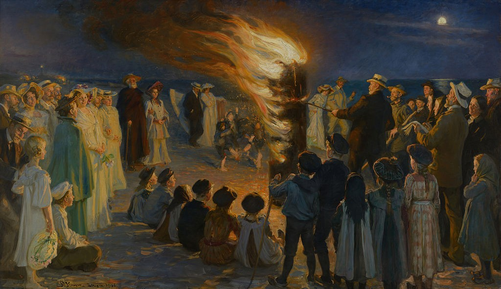 Midsummer_Eve_bonfire_on_Skagen's_beach_-_P.S._Krøyer_-_Google_Cultural_Institute