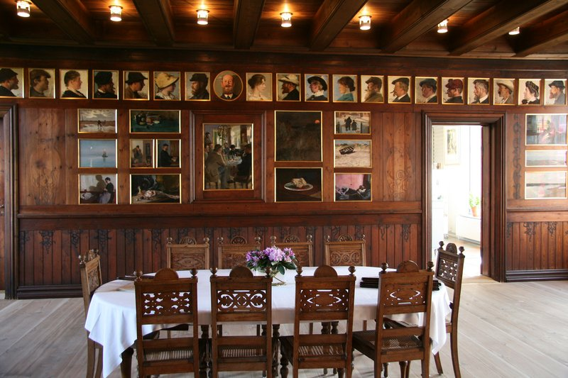 The Brøndum dining room, courtesy of Skagens Museum.