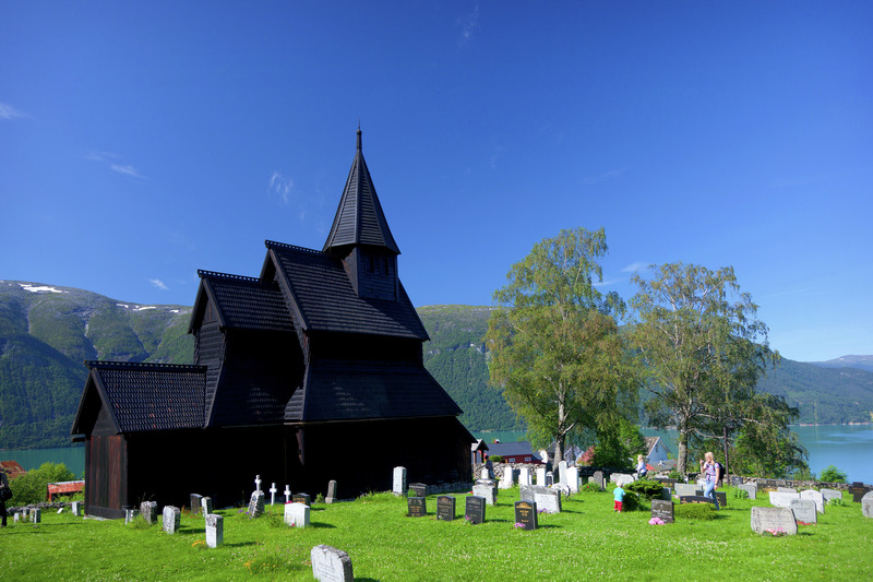 Urnes Stave Church. Photo by Espen Mills / Tasteofnationaltouristroutes.com / visitnorway.com
