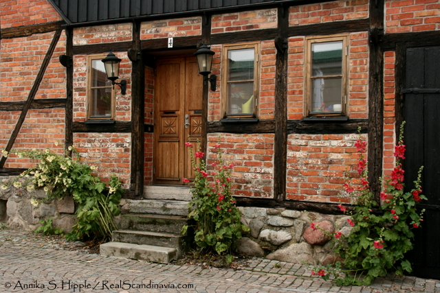 Half-timbered house in Ystad